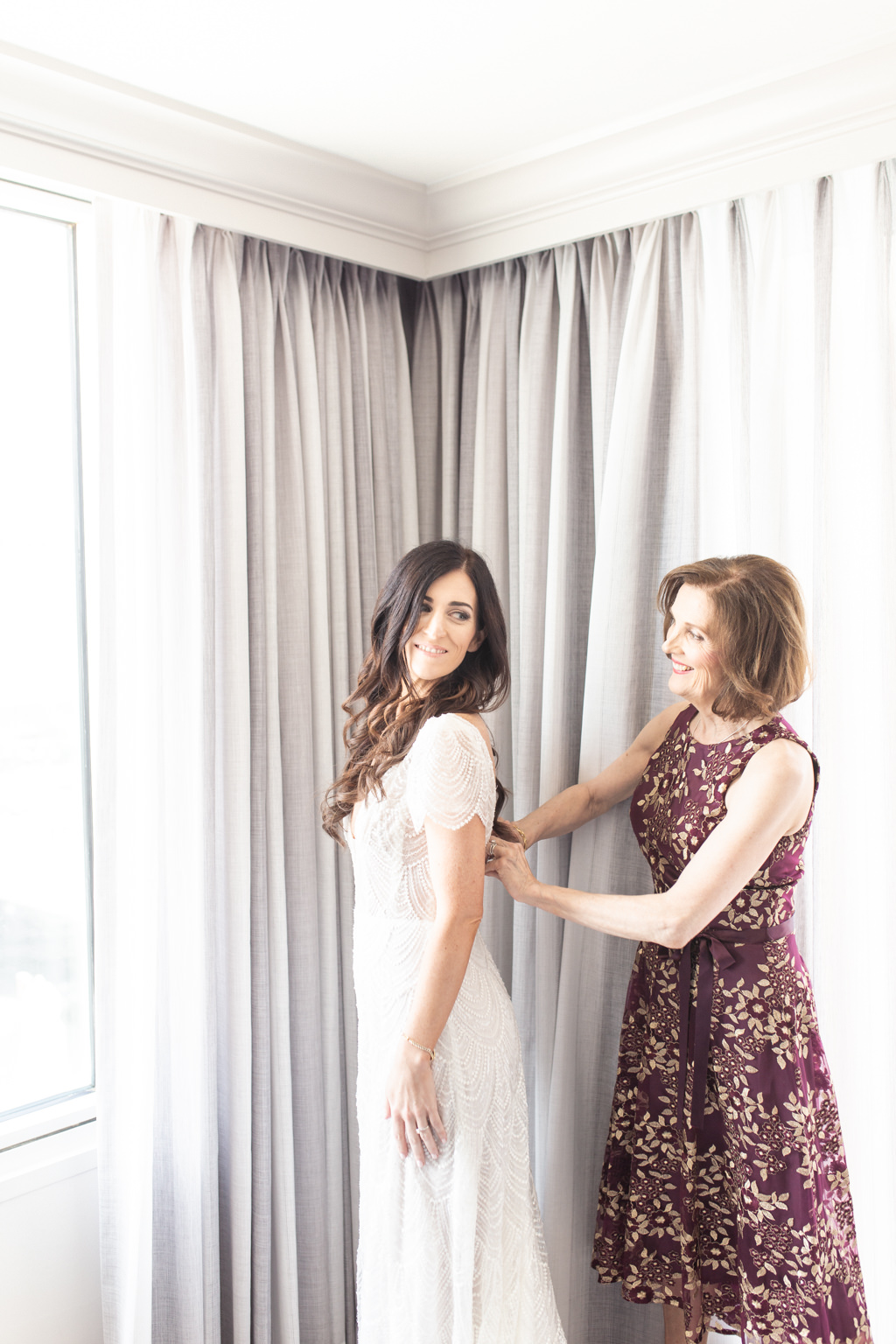 Tampa Bay Classic Bride with Mother Getting Ready Wedding Portrait   Wedding Hair and Makeup Femme Akoi