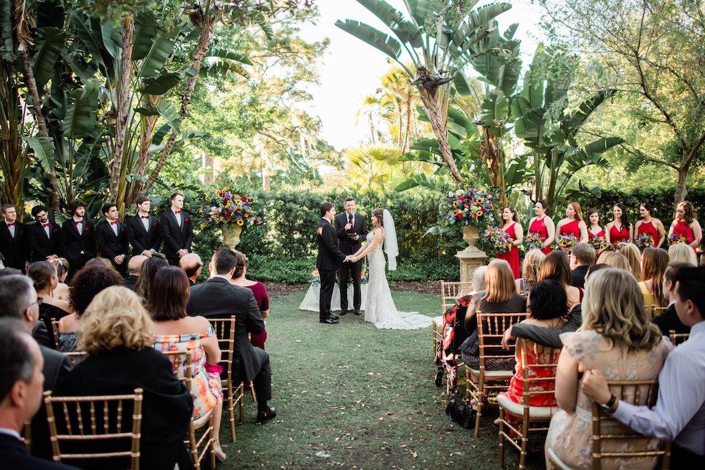 Tampa Garden Club Ceremony Set Up