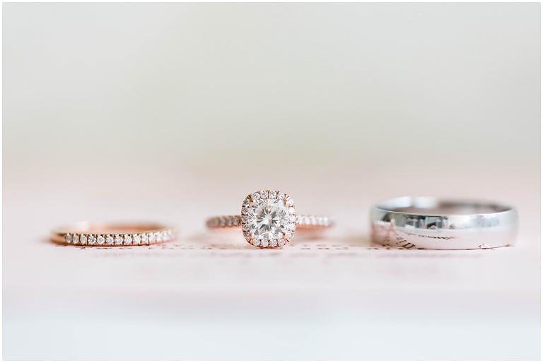 Tampa Wedding Ring Shot Diamond Band Rose Gold Engagement