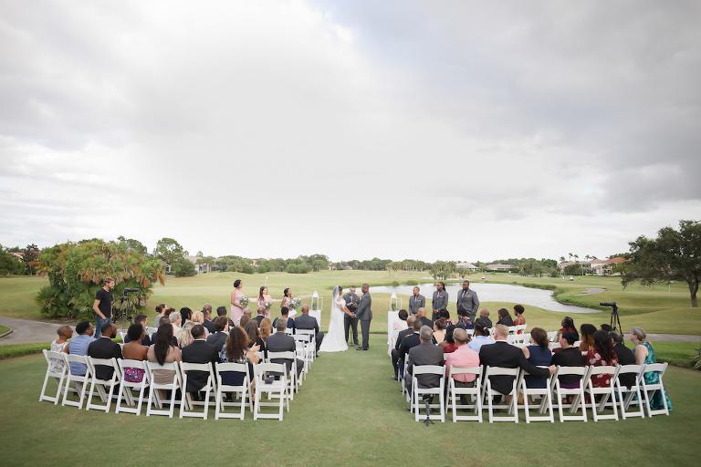 Outdoor Golf Course Wedding Ceremony | Tampa Bay Golf Course Wedding Venue The Bayou Club | Tampa Wedding Photographer Lifelong Photography Studio