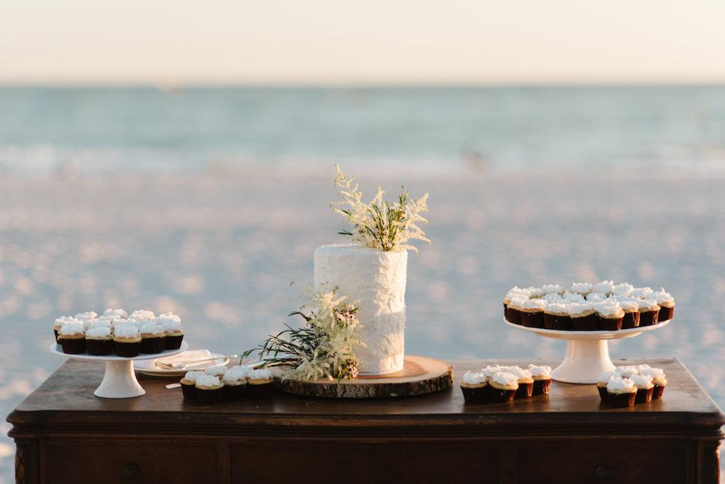 Beachfront Wedding Dessert and Cake Table