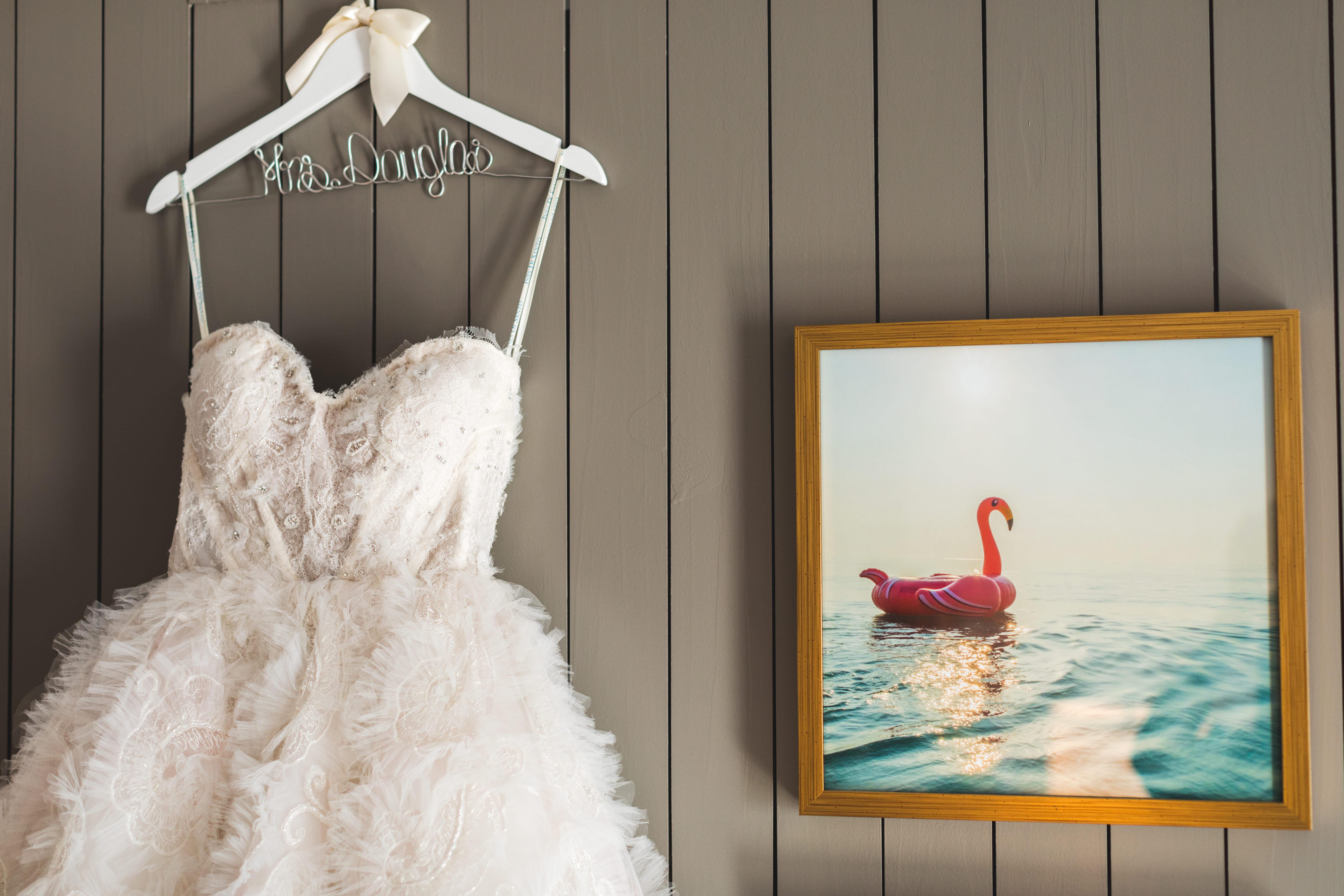 INSTAGRAM Ines Di Santo Modern Sweetheart Strapless Ruffled Skirt Wedding Dress on Custom Hanger   Tampa Bay Wedding Dress Shop Isabel O'Neil Bridal