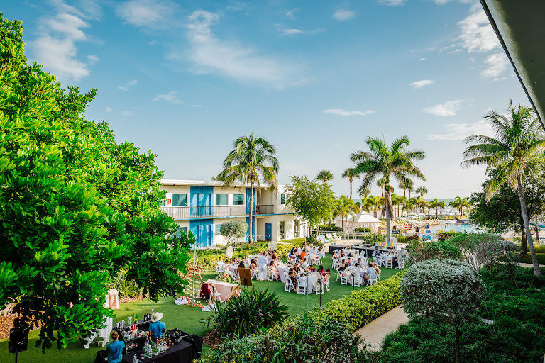 Tropical Wedding Reception Portrait | St. Petersburg Wedding Venue Postcard Inn on the Beach