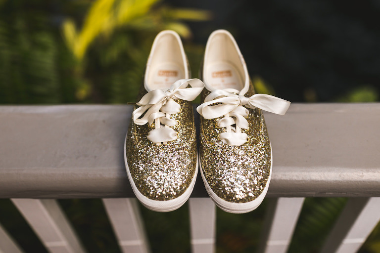 Gold Sparkle Glitter Sneaker Kate Spade Wedding Shoes