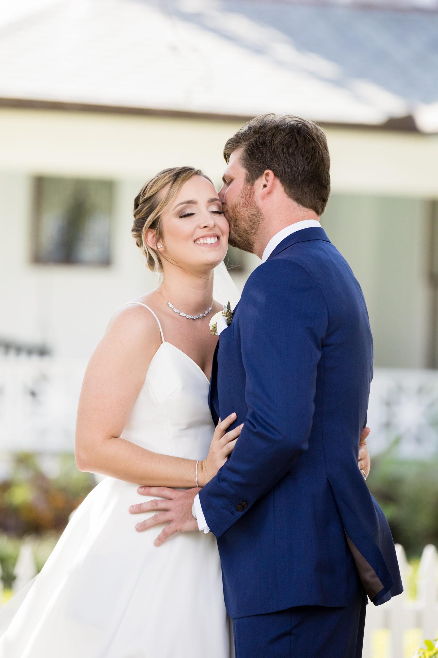 Tampa Bay Romantic Bride and Groom Wedding Portrait