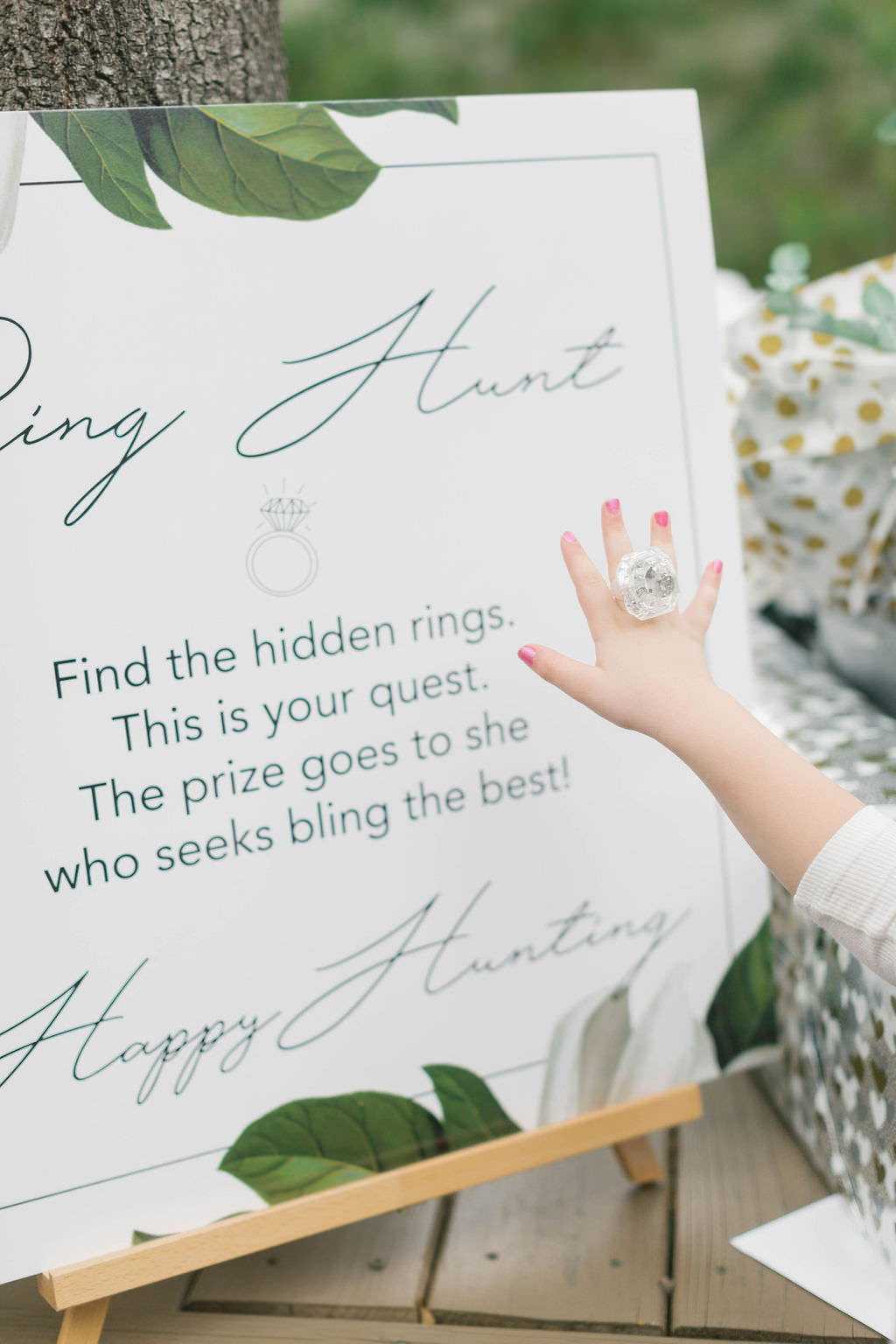 Tampa Bay Southern Inspired Bridal Shower Ring Hunt Game