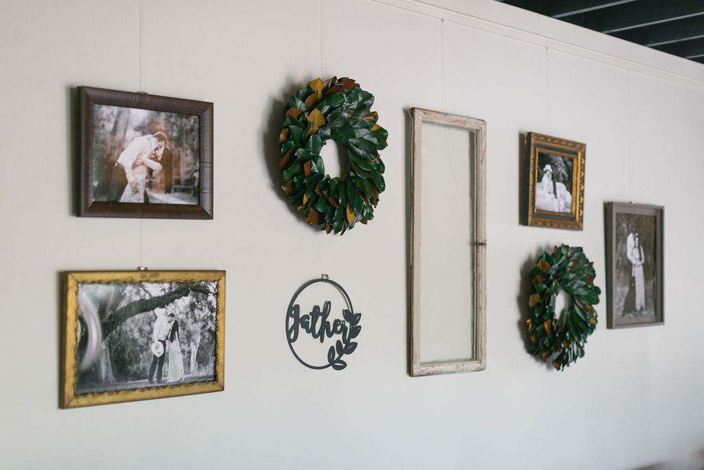 Southern Inspired Florida Bridal Shower with Black and White Engagement Picture Rustic Decor | Tampa Wedding and Event Planner Parties A'La Carte
