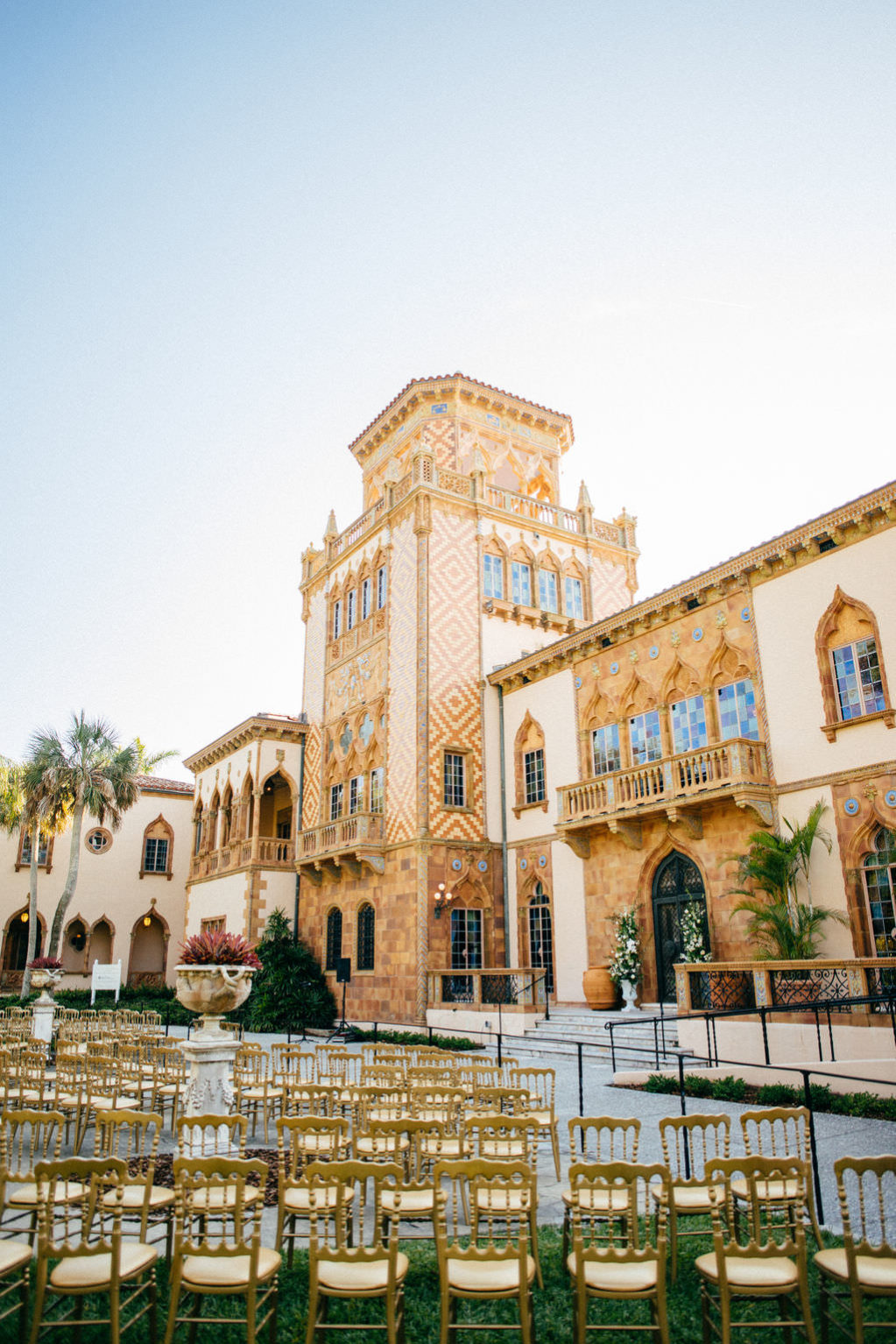Sarasota Wedding Ceremony | Historic Sarasota Waterfront Wedding Ceremony at Venue Ca d'Zan at The Ringling Museum | Tampa Bay Wedding Planner NK Productions