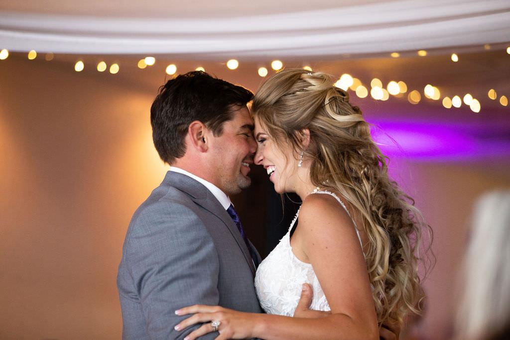 Happy Bride and Groom First Dance Wedding Portrait | Tampa Bay Wedding DJ Grant Hemond and Associates