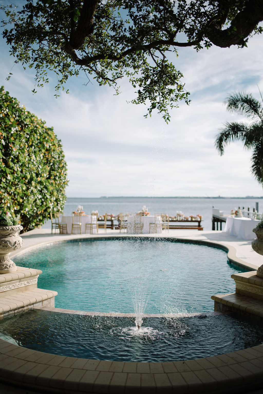 St. Petersburg Romantic Waterfront Wedding Reception at a Private Home