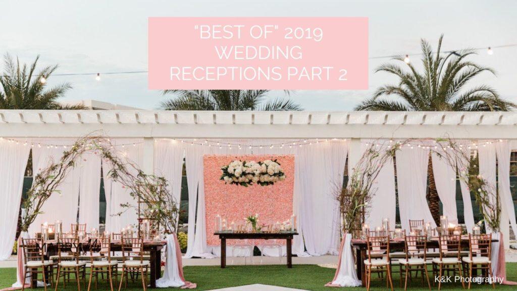 """Best of"" 2019: Tampa Bay Wedding Receptions 2019 | Outdoor Pink Garden Wedding Reception"