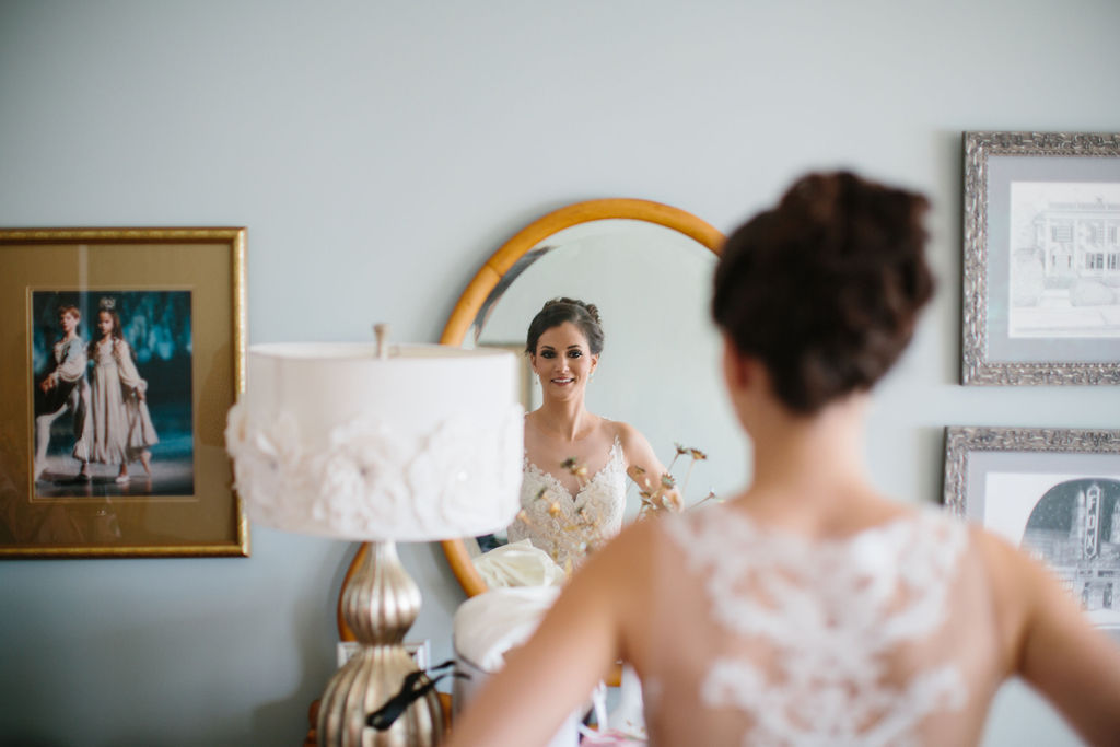 Romantic Bride Beauty Wedding Portrait with Updo Wedding Hairstyle | Tampa Bay Wedding Hair and Makeup Femme Akoi Beauty Studio