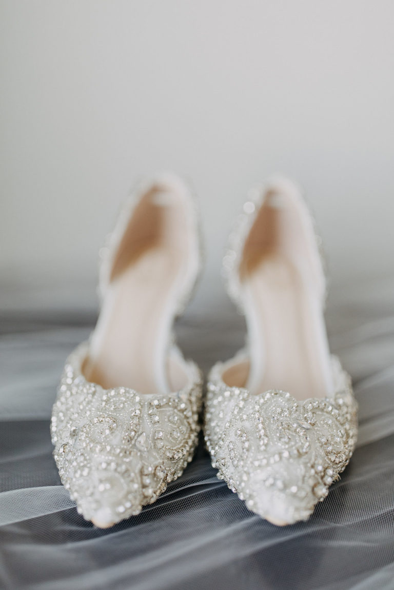 Ivory Pointed Toe Rhinestone Bridal Wedding Shoes