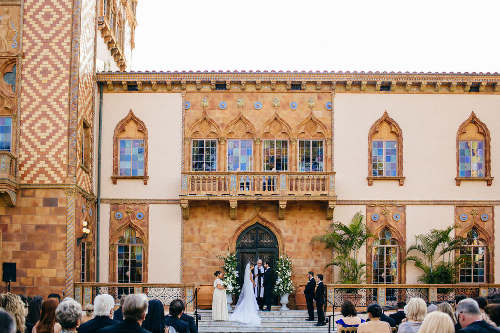 INSTAGRAM Bride and Groom Exchanging Wedding Ceremony Vows Portrait at Sarasota Historic Wedding Venue Ca d'Zan at The Ringling Museum   Tampa Bay Wedding Planner NK Productions