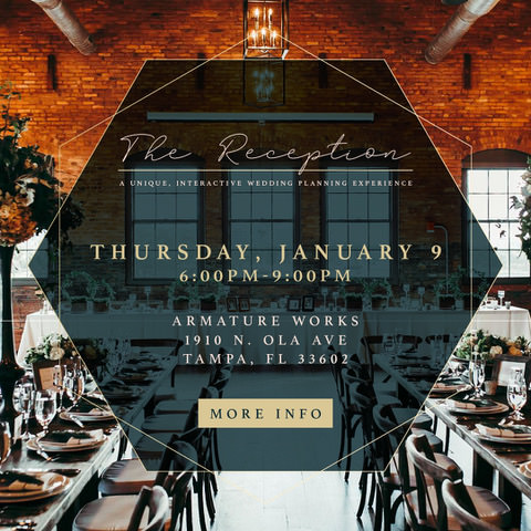 Armature Works The Reception Bridal Show | January 2020 Tampa Bay Wedding Planning Event