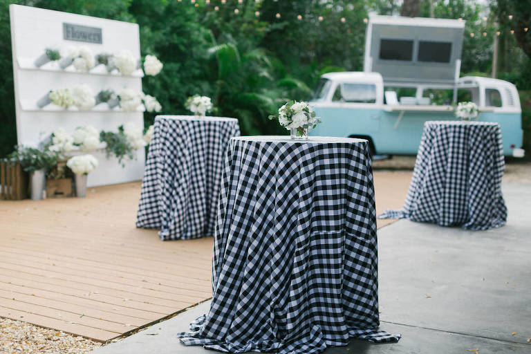 Magnolia Market Southern Inspired Tampa Bridal Shower   Joanna Gaines Inspired Bridal Shower   Buffalo Plaid Table Linens Over the Top Rental Linens