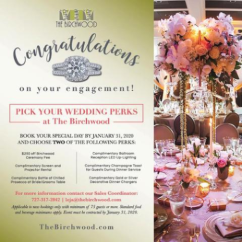 The Birchwood 2020 Wedding Perks Promotion