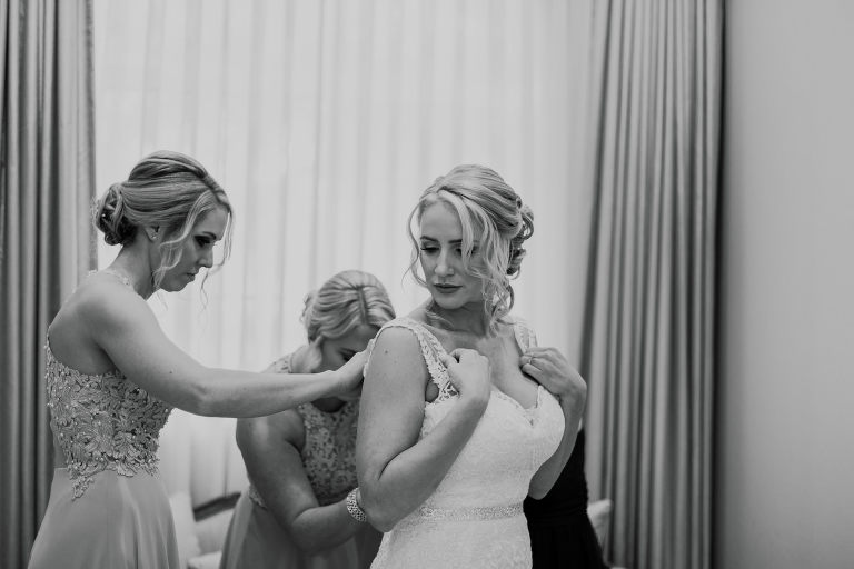 Classic Tampa Bay Bride Getting Ready Wedding Portrait