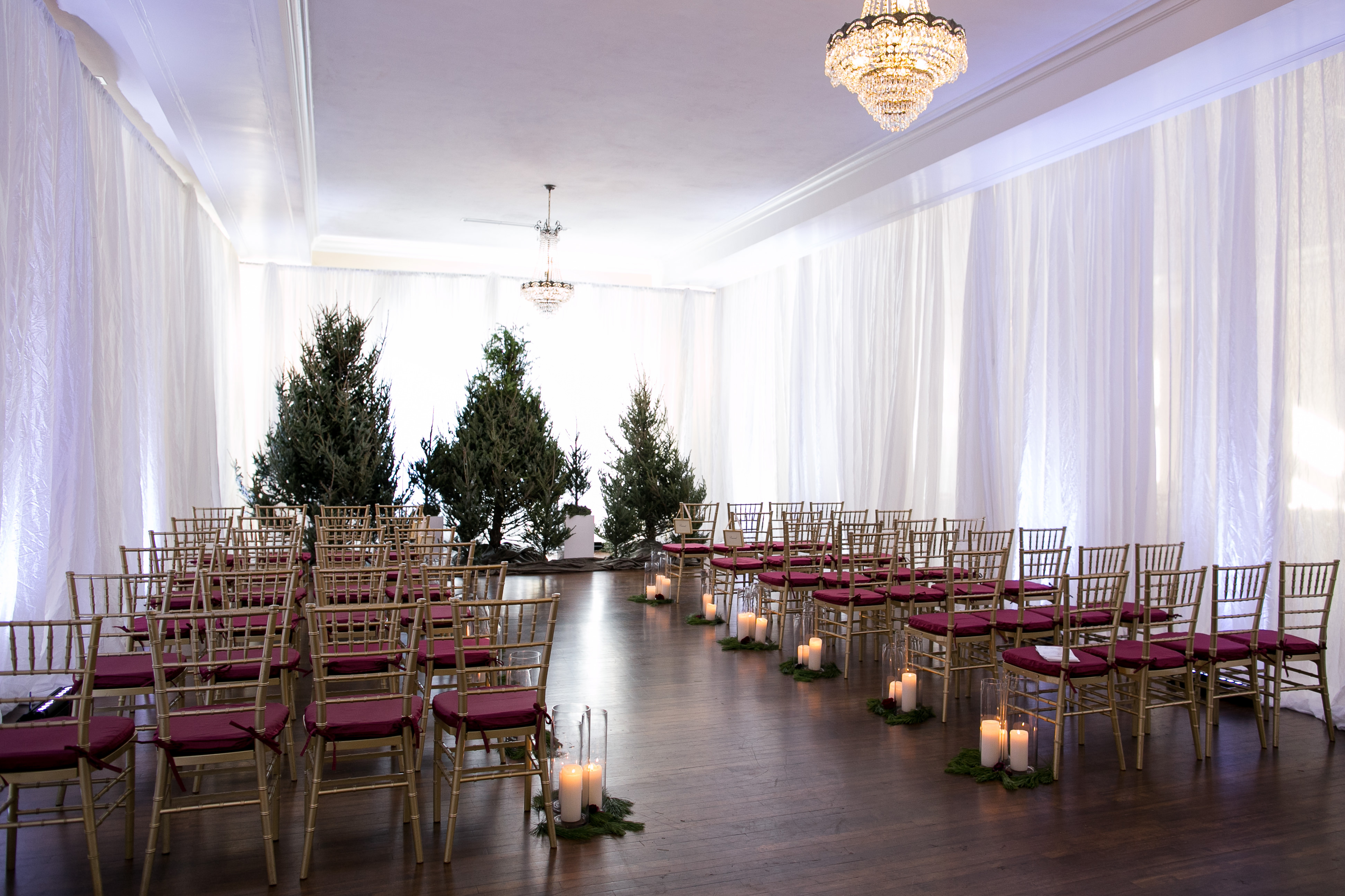 Christmas Inspired Wedding Ceremony