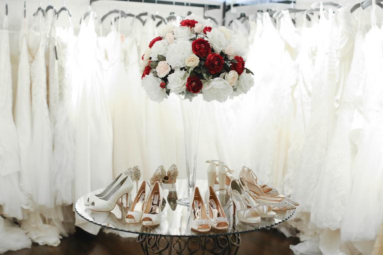 Nikki's Glitz and Glam Bridal Boutique | Palm Harbor Wedding Dress Store | Badgley Mischka Wedding Shoes