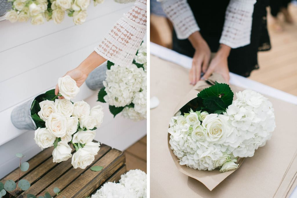 Magnolia Market Southern Inspired Tampa Bridal Shower | Joanna Gaines Inspired Bridal Shower | Create Your Own Bouquet with Eucalyptus and White Florals | Tampa Wedding Florist Bruce Wayne Florals | Tampa Wedding and Party Planner Parties A'La Carte