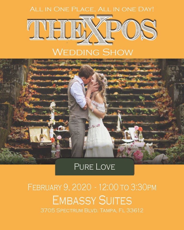 TheXpos Tampa Bay Bridal Show 2020 | Embassy Suites Tampa USF February 9, 2020