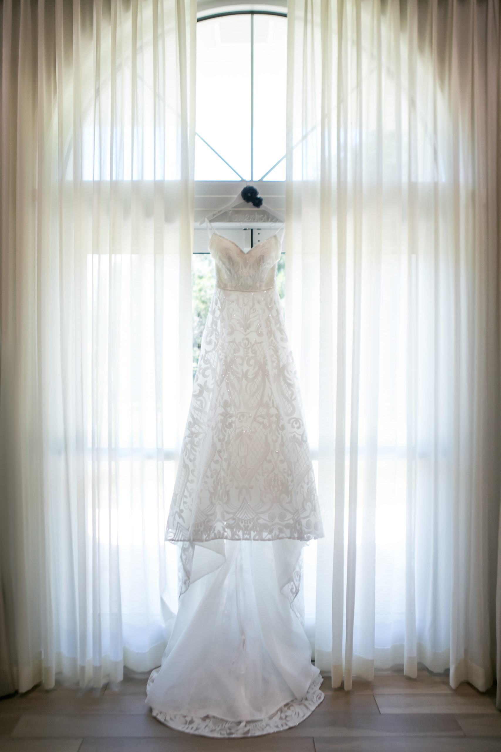 Romantic Lace A-Line Strapless Sweetheart Ashley & Justin Wedding Dress   Tampa Bay Wedding Photographer Carrie Wildes Photography