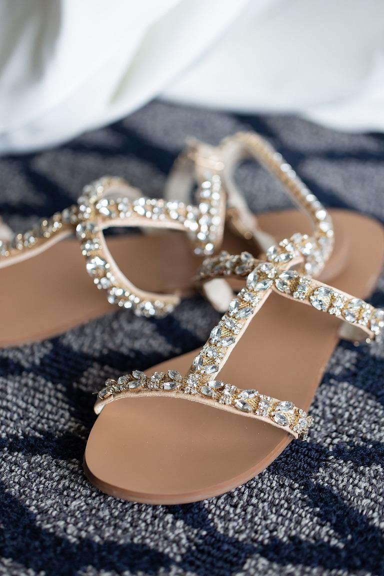 Rhinestone Open Toe Wedding Shoe Sandals