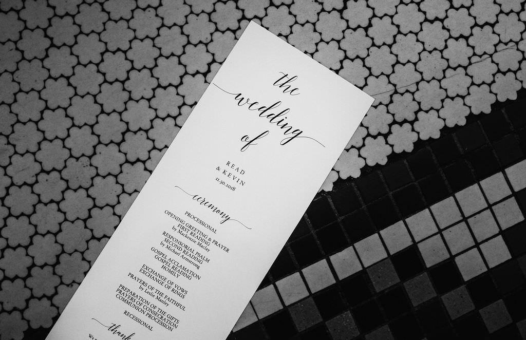 Classic Black and White Formal Wedding Program from Shutterfly