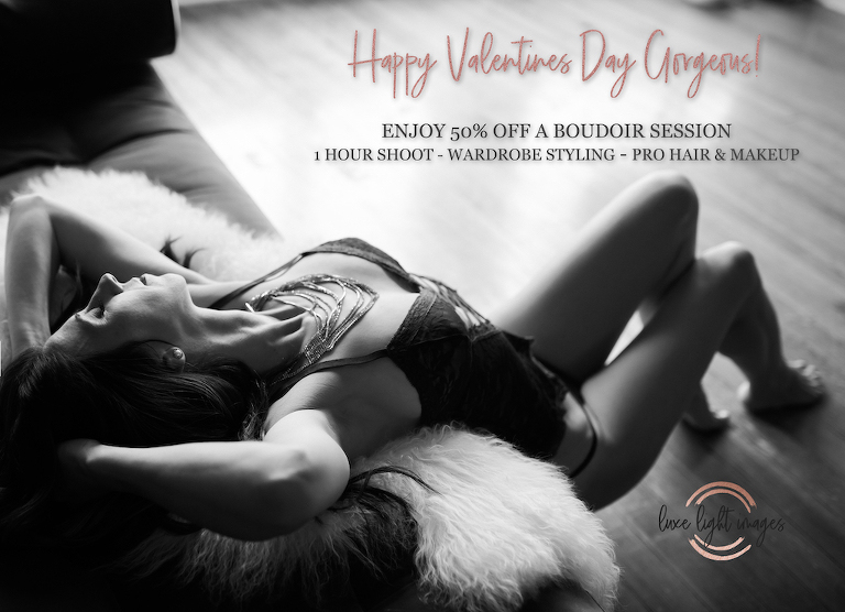 Luxe Light Photography | 2020 Valentines Day Boudoir Photography Special in Tampa Bay