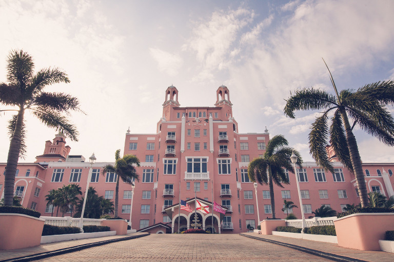Historic Florida Wedding Venue The Don CeSar Hotel in St. Pete Beach | Wedding Photographer Luxe Light Images