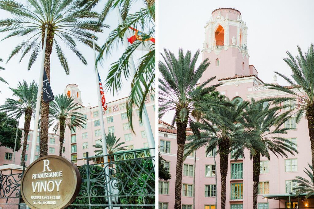 Tropical, Florida Resort Waterfront Wedding Venue   The Vinoy Renaissance St. Petersburg Resort & Golf Club