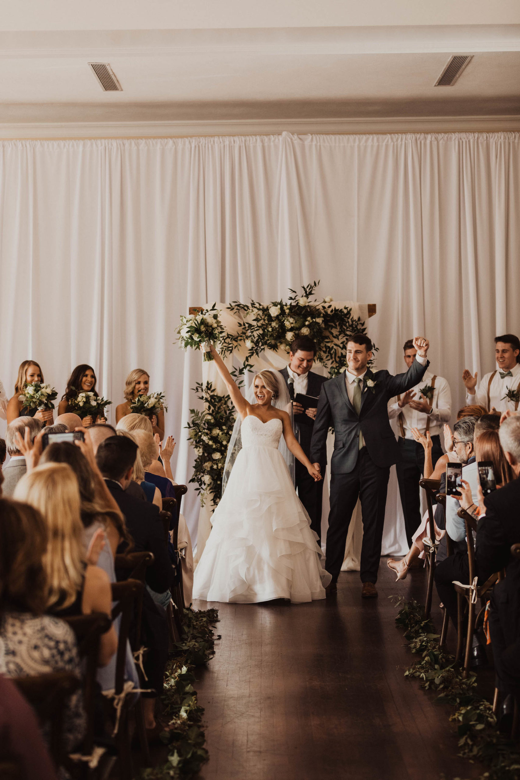 Excited Bride and Groom Reaction to Exchanging Wedding Vows | Tampa Bay Wedding Venue The Orlo