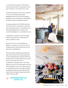 Best Westshore Tampa Bay Wedding Venue | The Centre Club