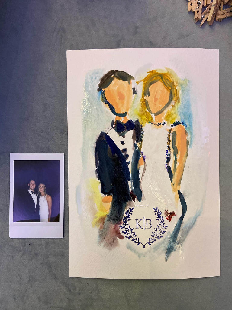 Live Wedding Painter Polaroid | Tampa Bay Breezin' Entertainment