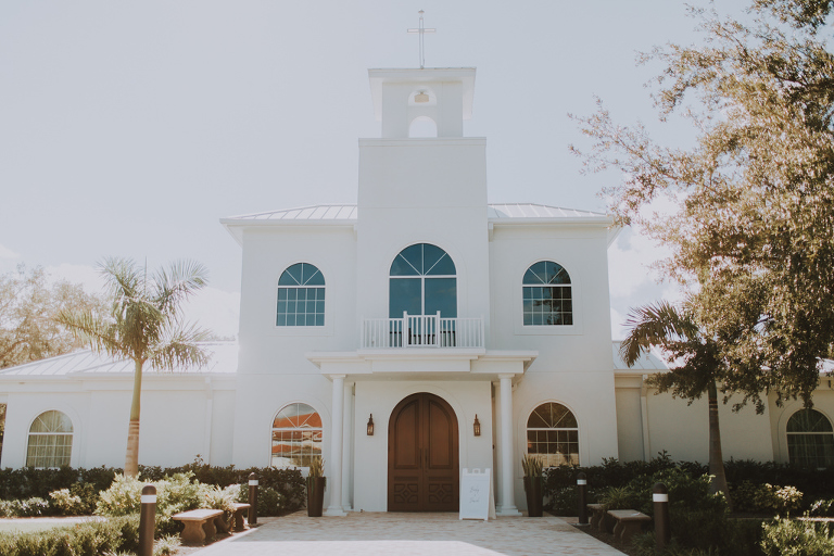 Clearwater Wedding Venue Harborside Chapel | Traditional White Tampa Bay Church