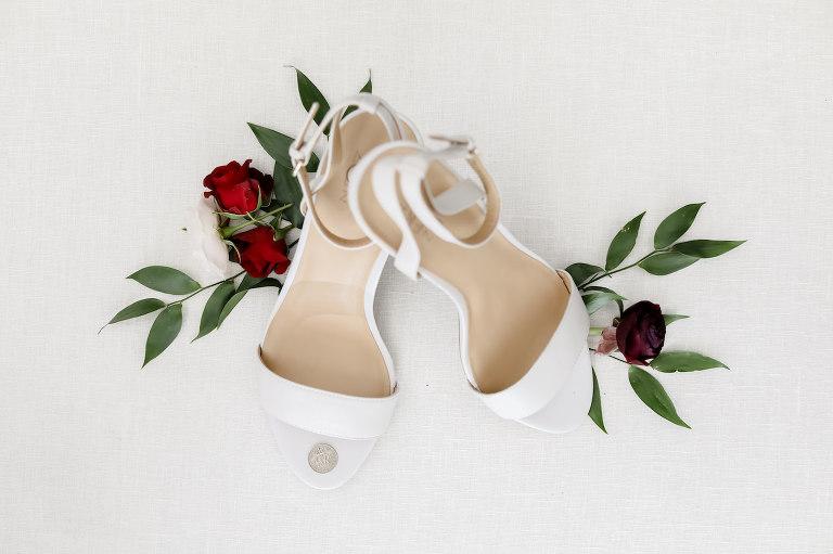 White Strappy Sandal Wedding Heel Shoes | Wedding Photographer Tampa Lifelong Photography Studio