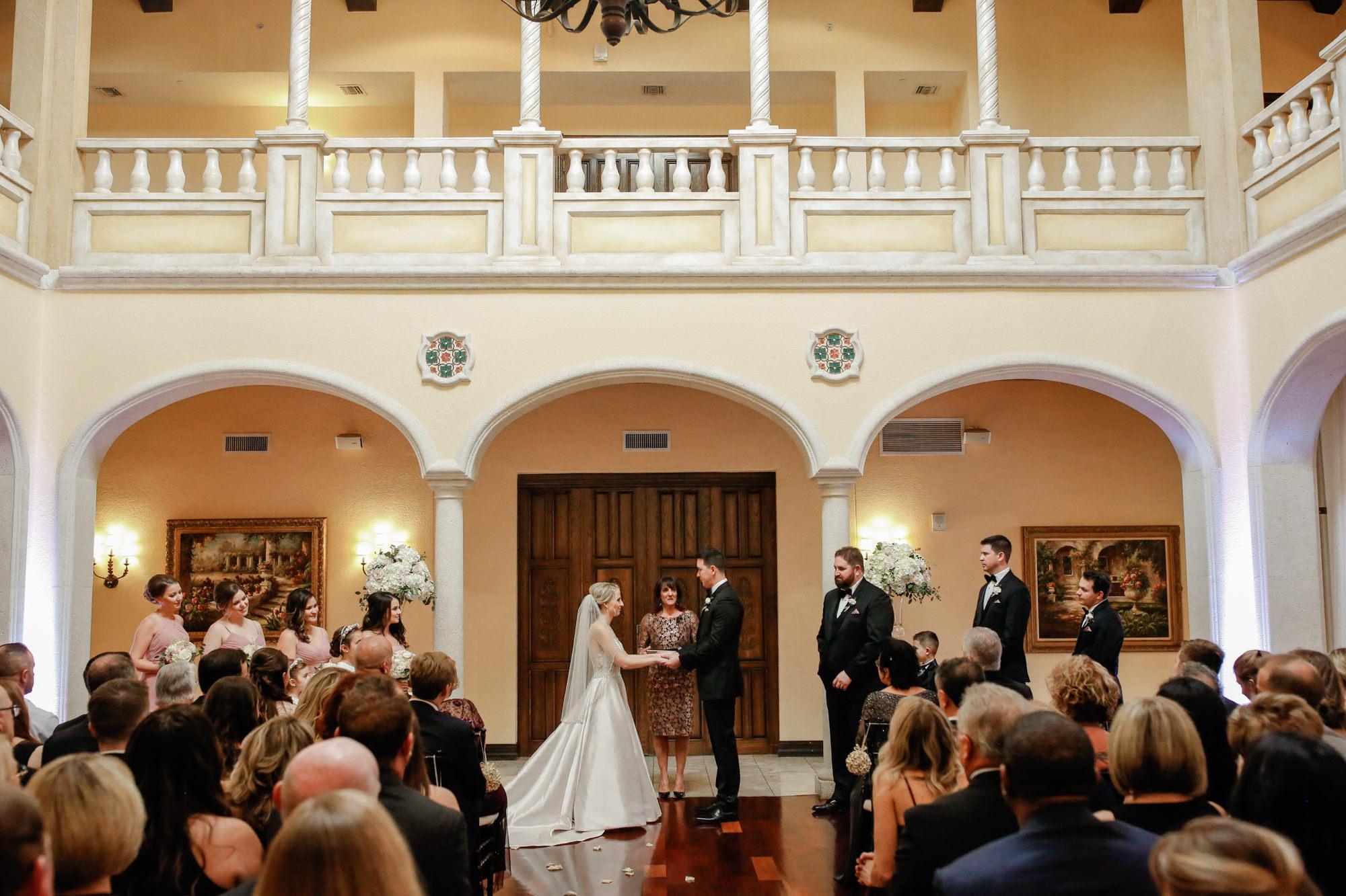 Tampa Wedding Venue Avila Golf & Country Club | Indoor Ceremony Blush Dusty Rose