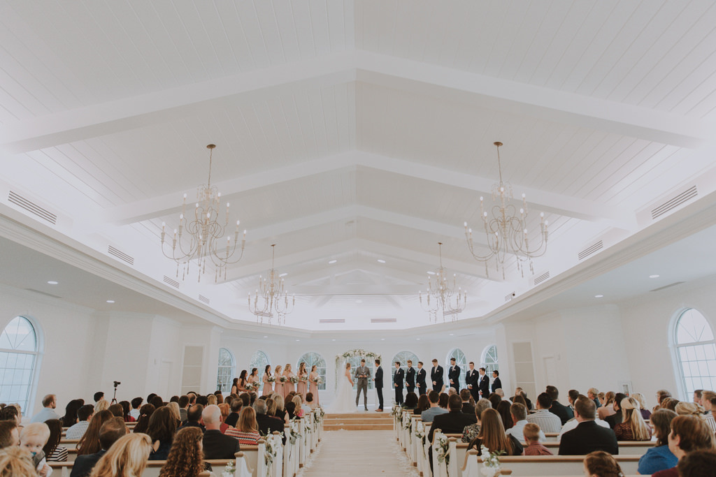 Clearwater Wedding Venue Harborside Chapel | Classic Traditional Church Wedding Ceremony