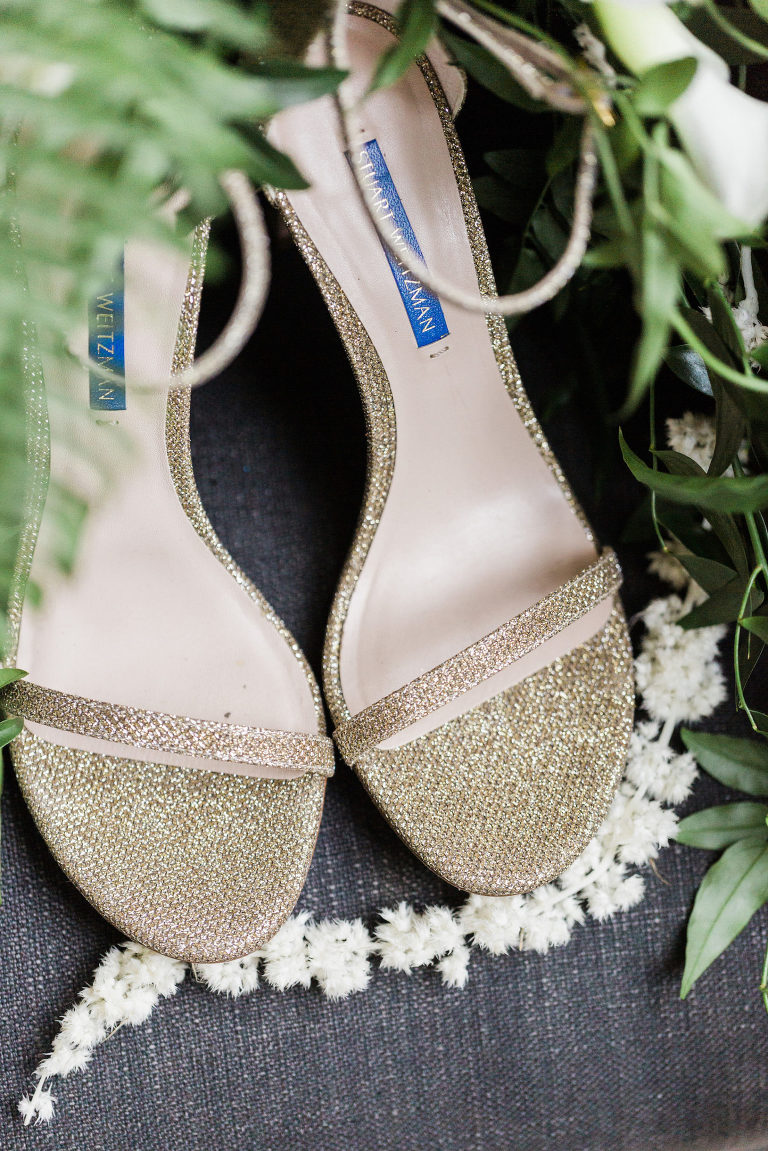 Gold Glitter Bridal Heels | Champagne Stuart Weitzman Wedding Shoes