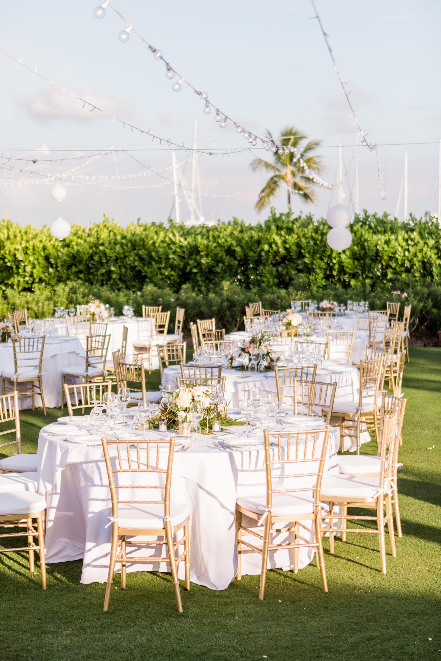 Elegant Outdoor Florida Lawn Wedding Reception with ...