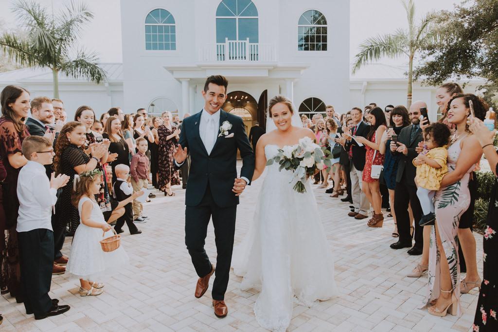 Bride and Groom Exit | Clearwater Wedding Venue Harborside Chapel
