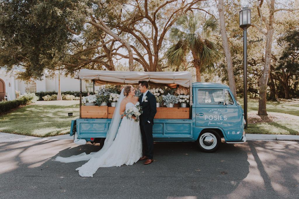 Posies Flower Truck | Unique Wedding Favors | Bouquet Wedding Favors | Vintage Truck Wedding | Tampa Bay Flower Truck