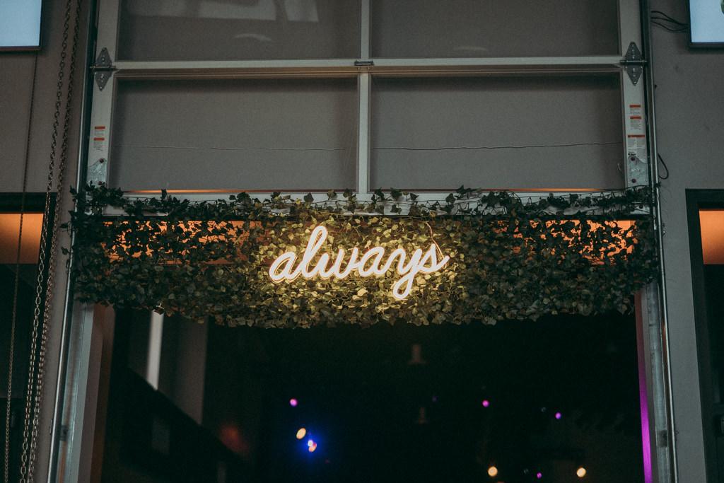 Wedding Neon Sign Always | Unique Wedding Reception Welcome Sign