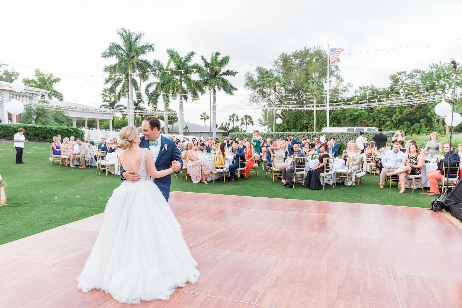 Bride and Groom Wedding First Dance | Musicians Bay Kings Band | Sarasota Wedding Venue The Resort at Longboat Key Club