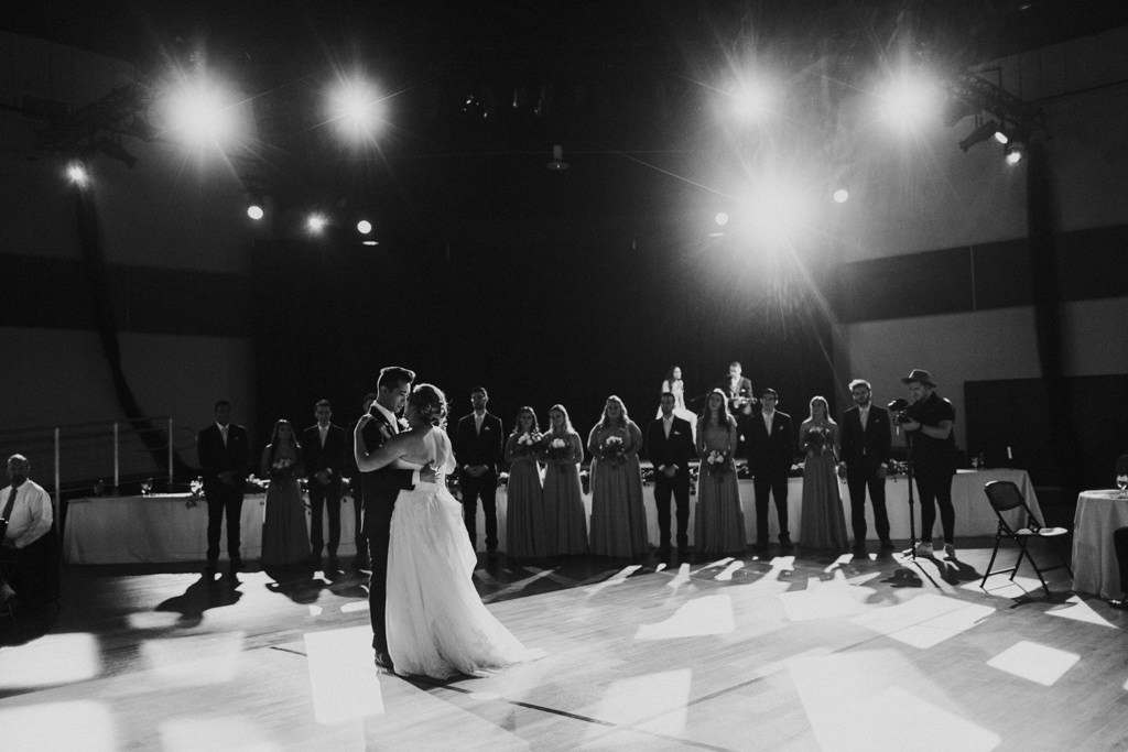 Bride and Groom First Dance Photo | Black and White Photography Wedding Portrait