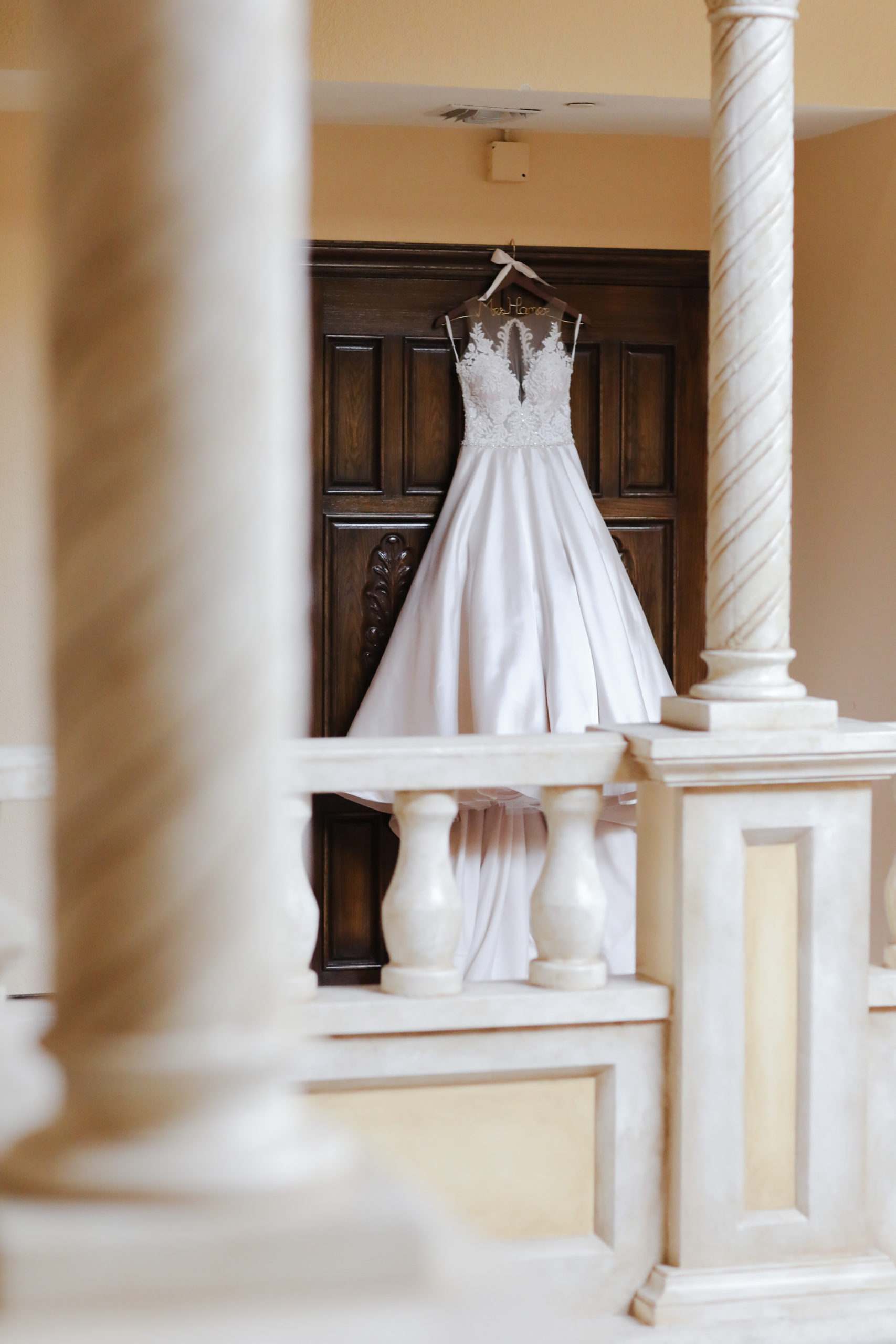 A-line Wedding Gown Illusion Lace Neck Ballgown