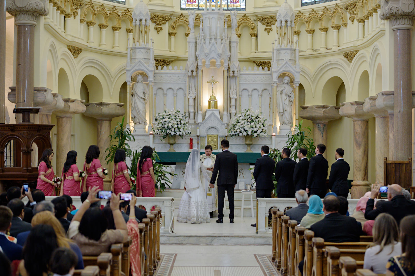 Florida Multicultural Wedding Ceremony | Catholic Wedding Ceremony at Sacred Heart Catholic Church