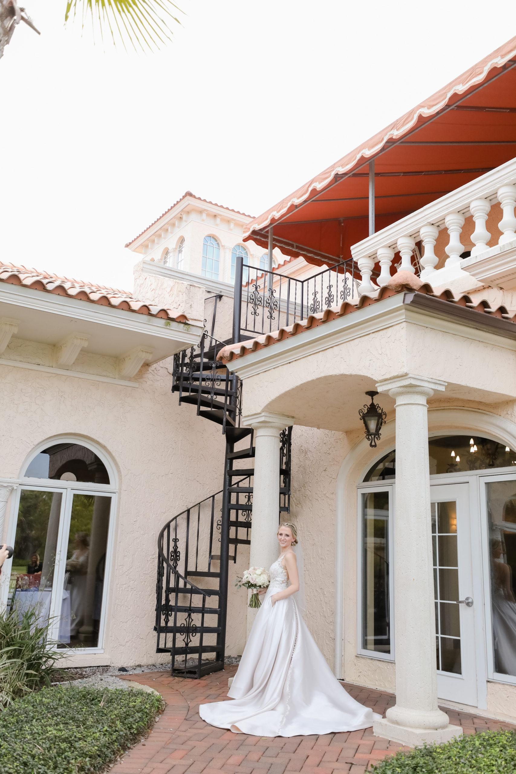 Tampa Wedding Venue Avila Golf & Country Club | White Allure Ballgown Wedding Dress with Long Train | Tampa Bay Wedding Photographer Lifelong Photography Studio
