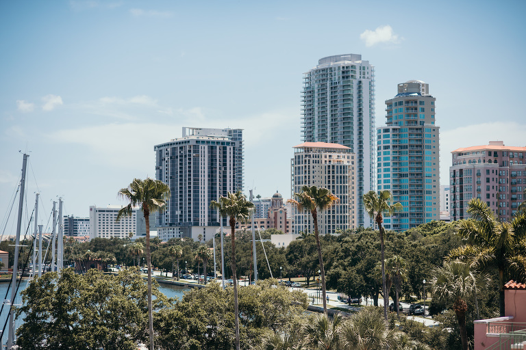 Downtown St. Petersburg on Beautiful June Day, View from The Vinoy